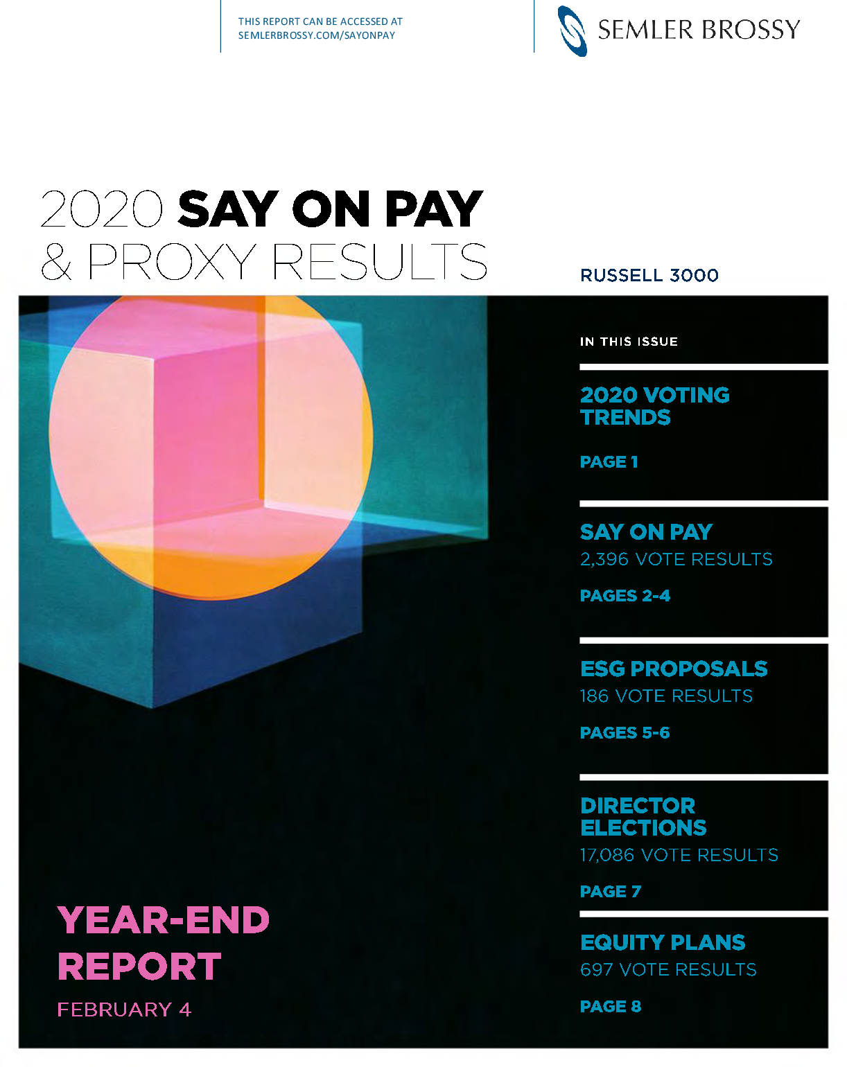 2020 Say on Pay Support Was Identical to 2019 Results, and a Look at 2020 Voting Trends